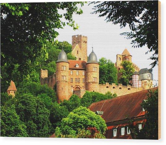 Wertheim Castle Wood Print