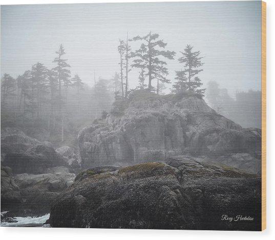 West Coast Landscape Ocean Fog IIi Wood Print