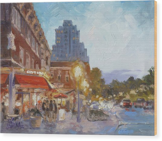 West End Evening - St.louis Wood Print