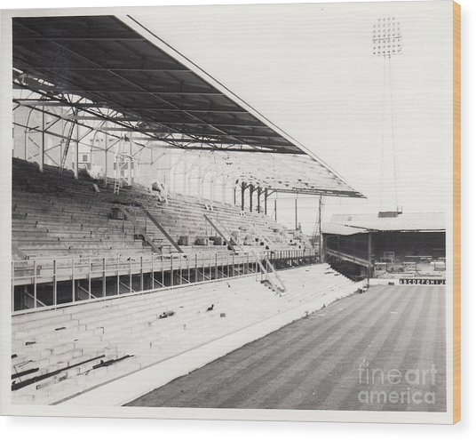 West Ham - Upton Park - West Stand 1 - 1969 Wood Print