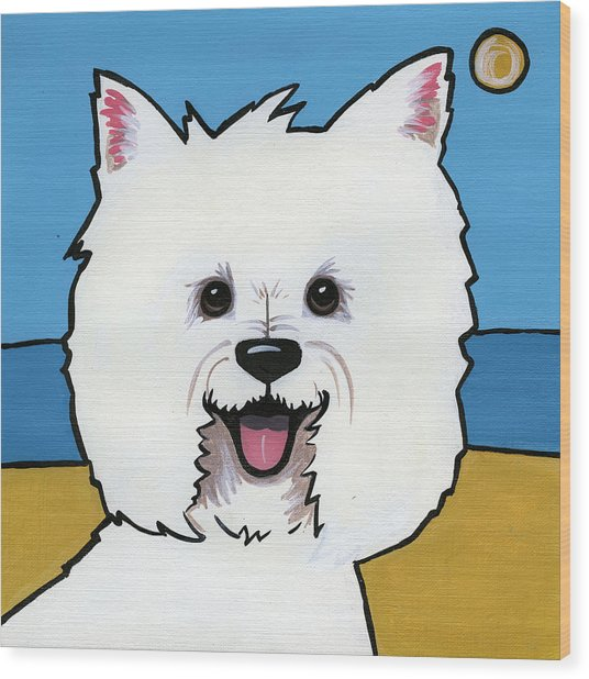 West Highland Terrier Wood Print
