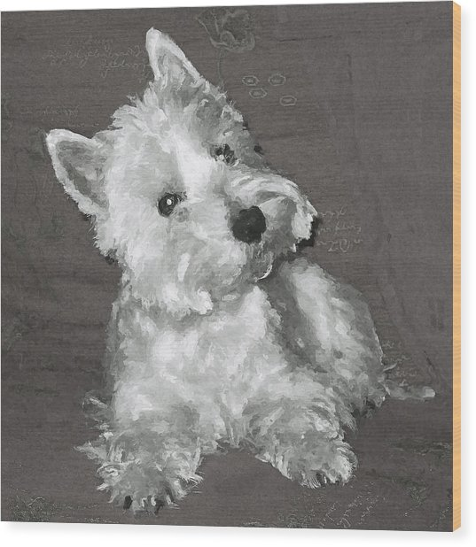 West Highland White Terrier Wood Print by Charmaine Zoe