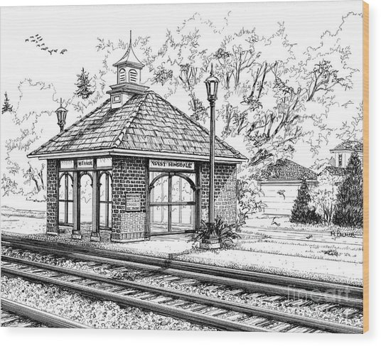 West Hinsdale Train Station Wood Print