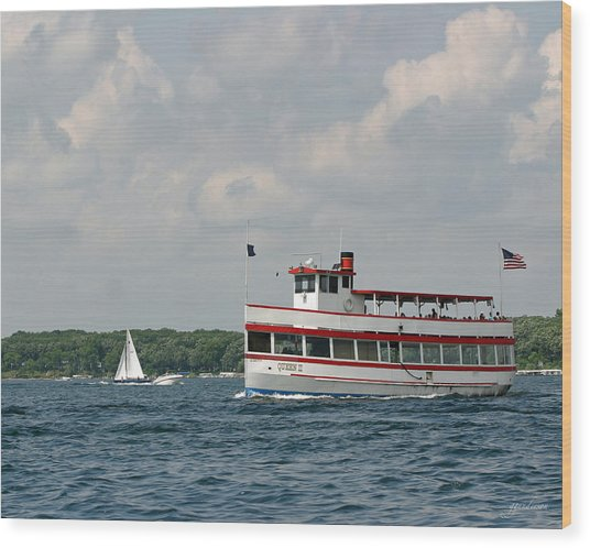 West Lake Queen Ll Wood Print