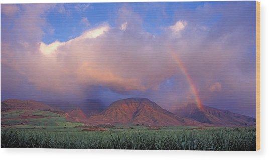West Maui Rainbow Wood Print
