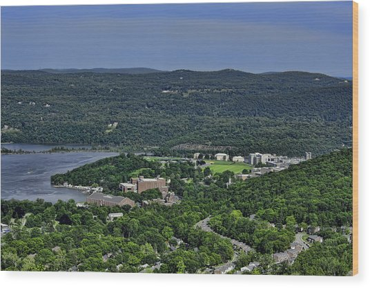 West Point From Storm King Overlook Wood Print
