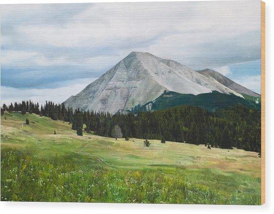 West Spanish Peak In Summer Wood Print