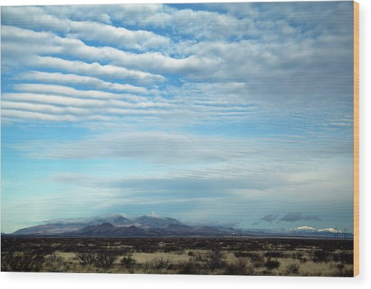 West Texas Skyline #2 Wood Print