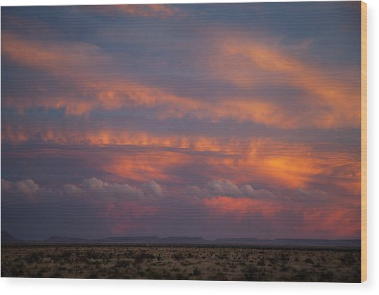 West Texas Sunset #1 Wood Print