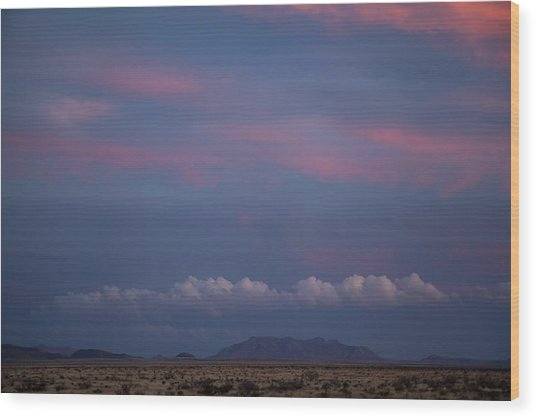 West Texas Sunset #2 Wood Print