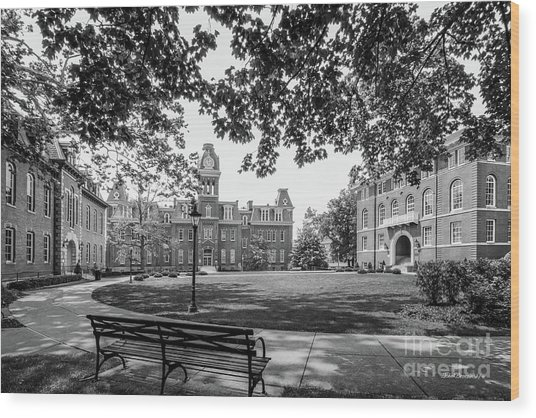 West Virginia University Woodburn Circle Wood Print
