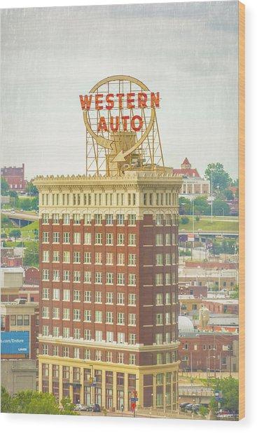 Western Auto Wood Print