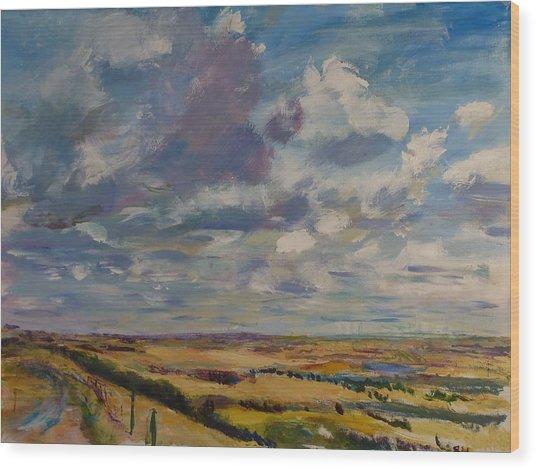 Skies Westward Wood Print