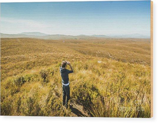 Western Plains Of Tasmania Wood Print
