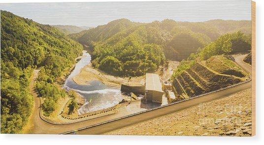 Western Wilderness Hydro Dam Wood Print