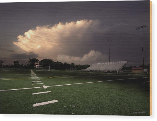 Westerville North Warrior Stadium Wood Print
