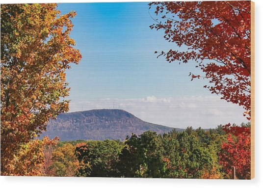 Westhampton View Of Mount Tom Wood Print