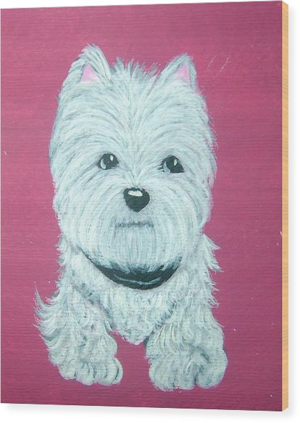Westie Wood Print by Tammy Brown