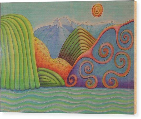 Westland Lake Nz Wood Print by Barbara Stirrup