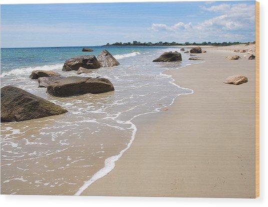 Westport Harbor Low Tide Wood Print