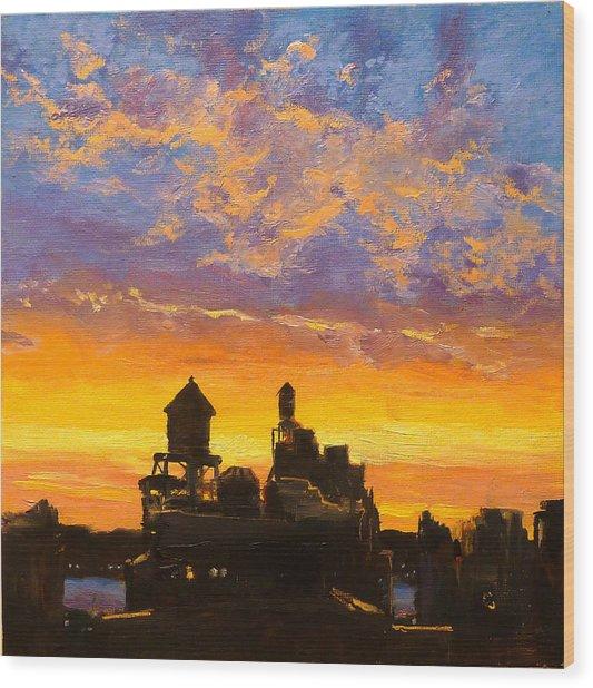 Westside Sunset No. 1 Wood Print