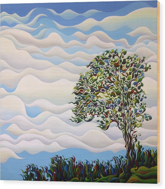 Westward Yearning Tree Wood Print