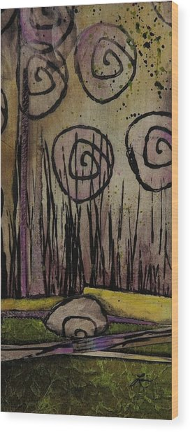 Wetland's Freedom  Wood Print by Laura Lein-Svencner