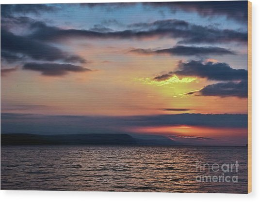Weymouth Esplanade Sunrise Wood Print