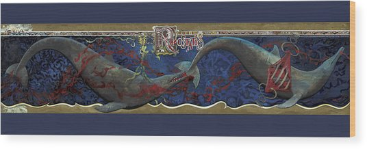 Whale Music Wood Print by Martin Tielli