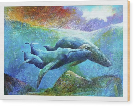 Whale Watch Wood Print