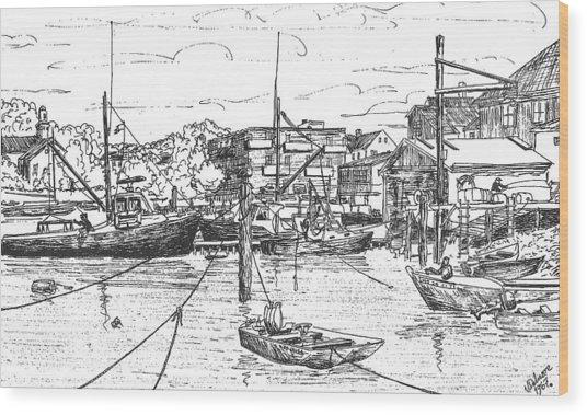 Whaler On Eel Pond Wood Print