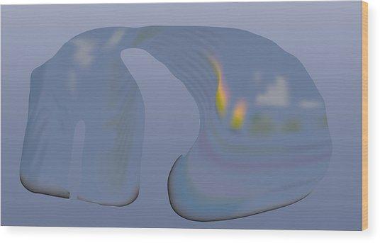 Whalescape Wood Print