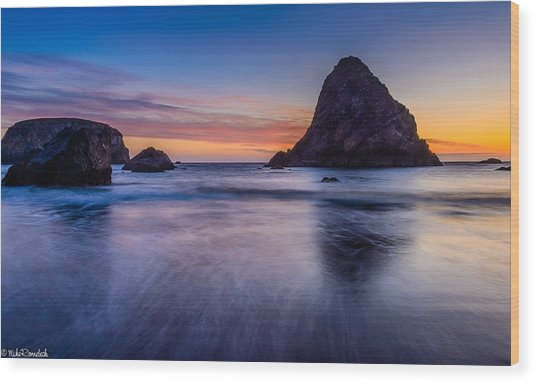 Whaleshead Beach Sunset Wood Print
