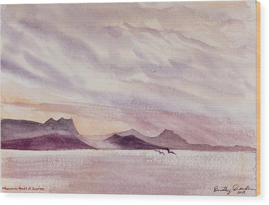 Whangarei Heads At Sunrise, New Zealand Wood Print