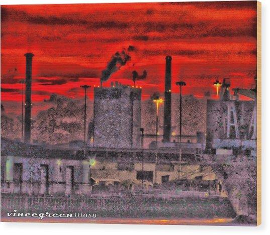 Port Of Savannah Wood Print