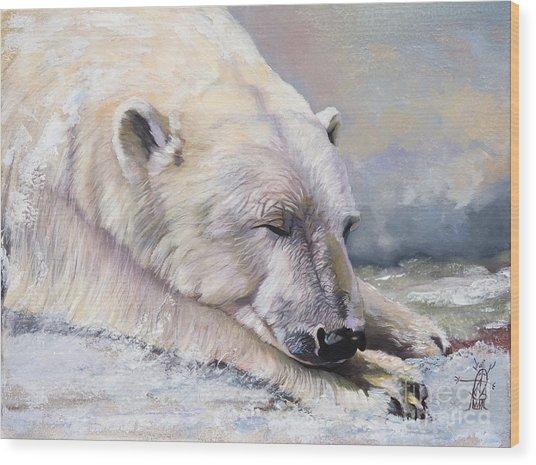 What Do Polar Bears Dream Of Wood Print