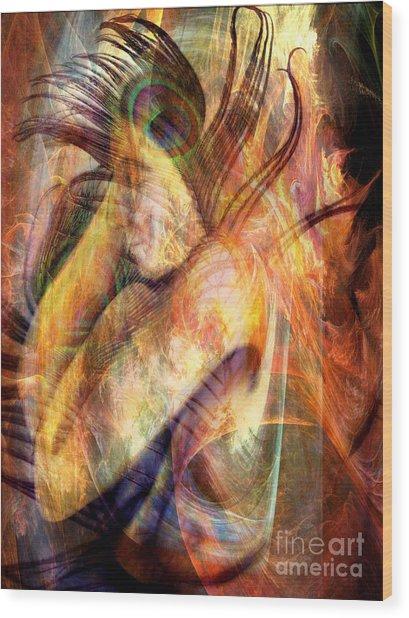 What Dreams May Come 3 Wood Print by Helene Kippert