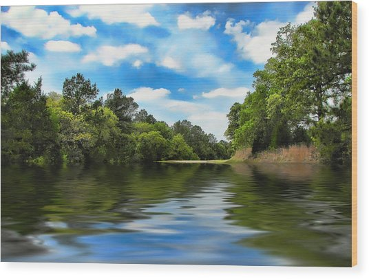 What I Remember About That Day On The River Wood Print