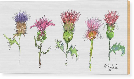 What Is It About A Thistle Wood Print