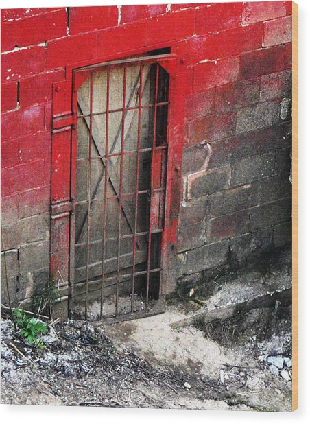 What Lies Behind The Door Wood Print