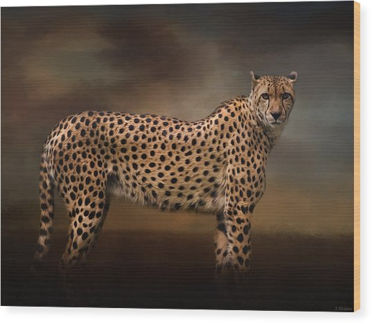 What You Imagine - Cheetah Art Wood Print