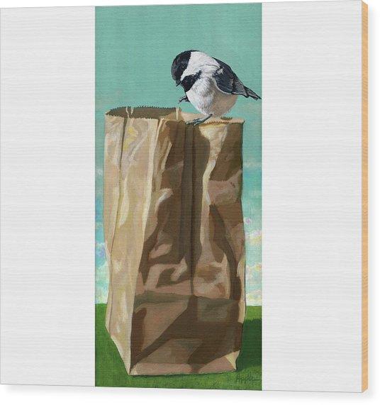 What's In The Bag Original Painting Wood Print