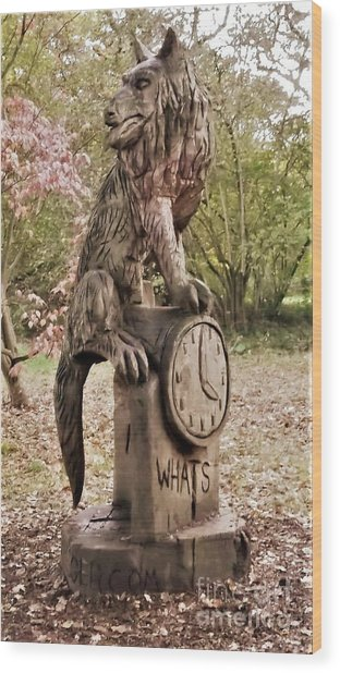 Whats The Time Mr Wolf Wood Print