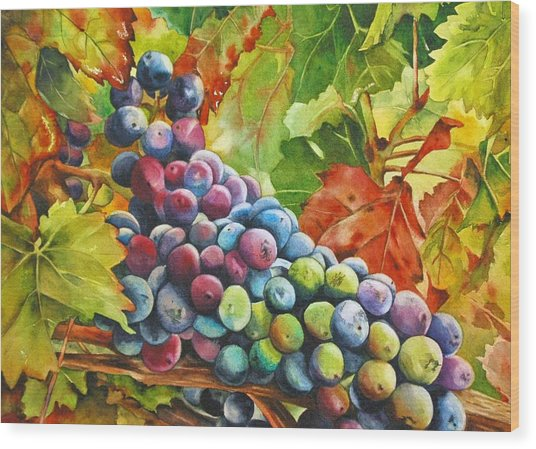 What's Your Grape Wood Print