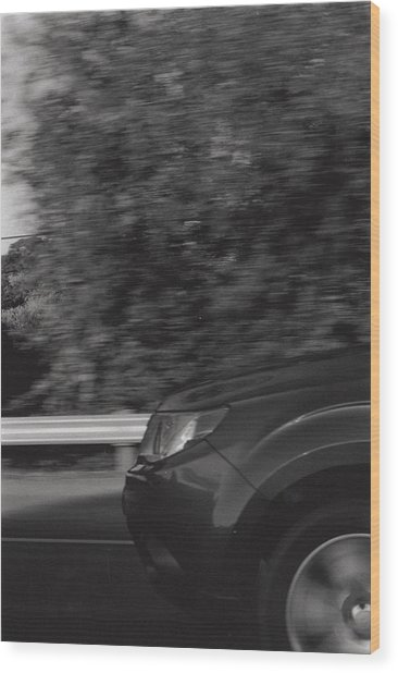 Wheel Blur Photograph Wood Print