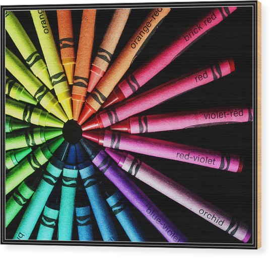 Wheel Of Color Wood Print