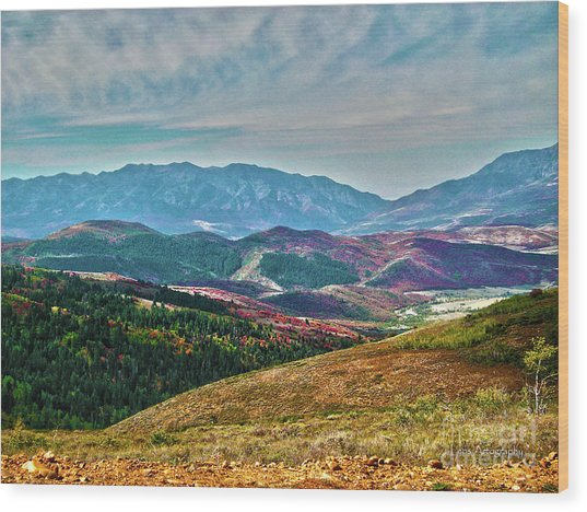 Wheeler Peak Wood Print