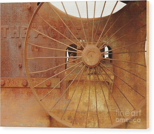Wheels Of Progress #2 Wood Print