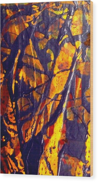 When A Tree Falls Alone In A Forest 1 Wood Print by Bruce Combs - REACH BEYOND