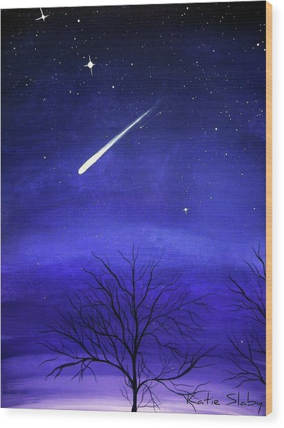 When Stars Fall Wood Print